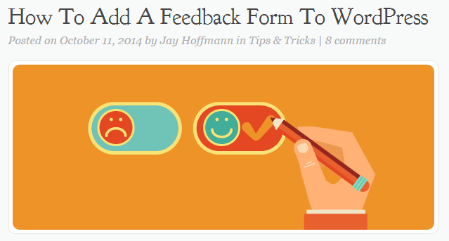 wordpress-feedback